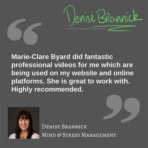Testimonial Denise Brannock Mind and Stress Management