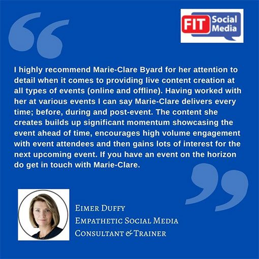 Testimonial Eimer Duffy FIT Social Media