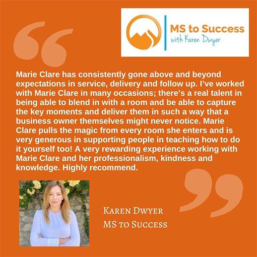 Testimonial Karen Dwyer MS to Success