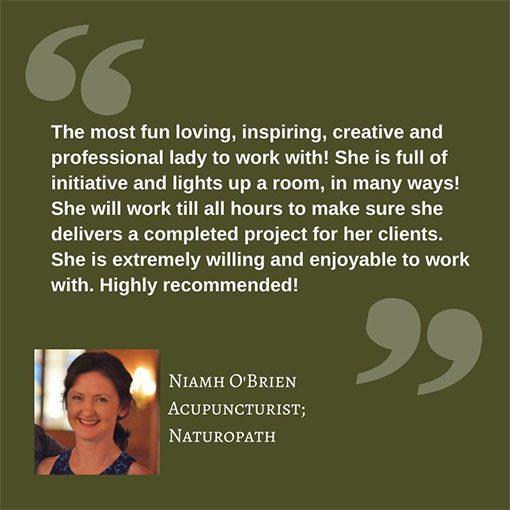 Testimonial Niamh O Brien Accupuncturist